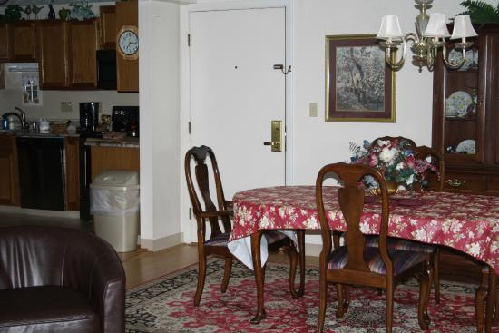 Village by the Sea: View of dining room and part of kitchen