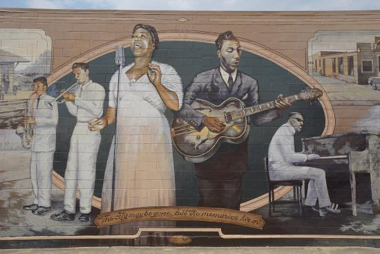 Mural Arts Program of Hayward: A small portion of a gorgeous historical mural
