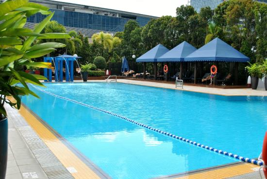 Pool area picture of marina mandarin singapore - Marina mandarin singapore swimming pool ...