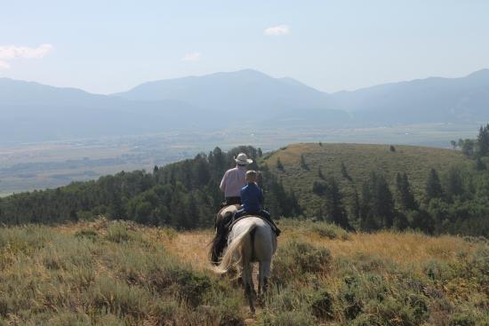Bagley's Teton Mountain Ranch: Beautiful views at the top!