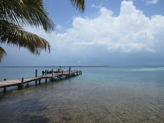 Joe Jo's By The Reef: The dock by the Tabacco Caye Lodge