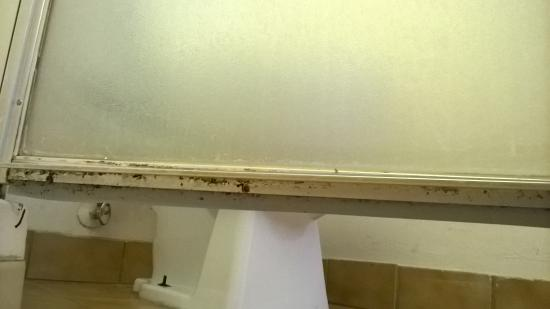 America's Best Inn Modesto : mildew in every bathroom