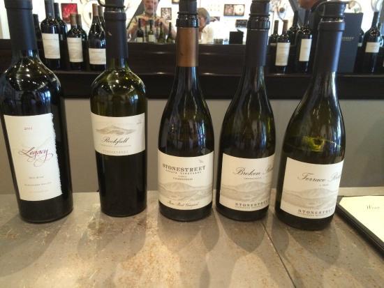 Stonestreet Winery: The wine tasting suite