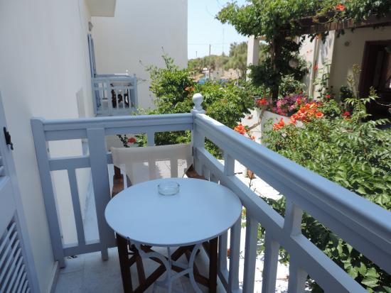 Hotel Sanoudos : notre balcon