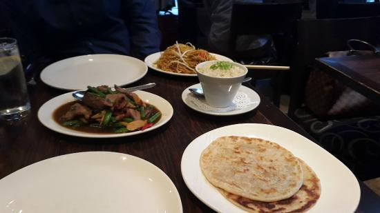 Dusit Thai Restaurant : More than enough for two people,  absolutely delicious
