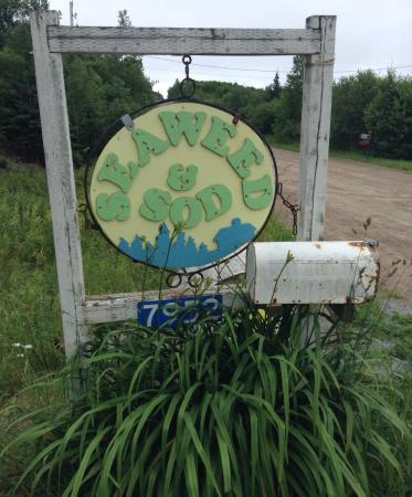 Seaweed and Sod Farm Bed and Breakfast: BnB Road Sign