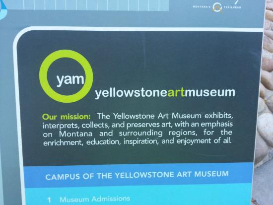 Yellowstone Art Museum: Sign