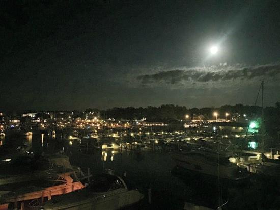 Marina Grand Resort: View of the Harbor at Night from Balcony