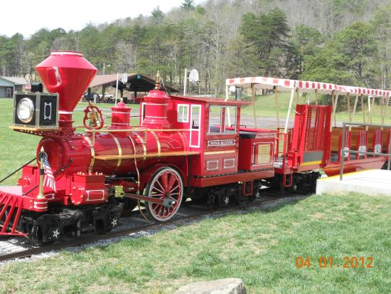 The Ridge Runner Train is open April through Sept on Saturday and Sunday from 12-6pm $1.50 to ri