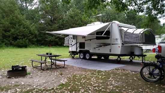 Waterloo, NE: Our campsite - #38 in Fawn Meadows
