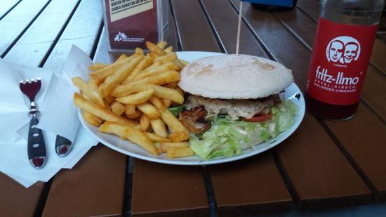 Wittkoop: My burger with fries.