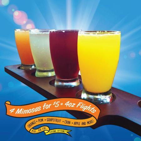 The Broken Yolk Cafe Mimosa Flights