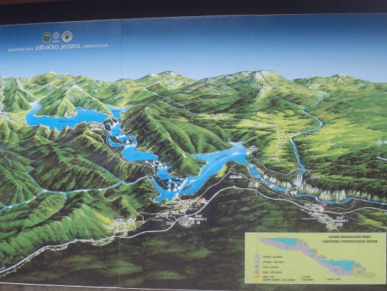 Plitvice lakes map  Picture of Plitvice Lakes National Park