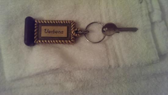 Hotel Verbena : chiave della camera