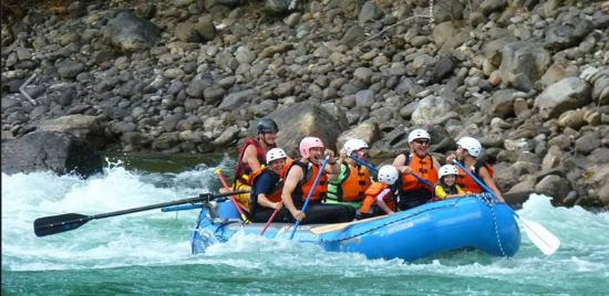Nelson Whitewater Rafting Co.: In some Class II rapids
