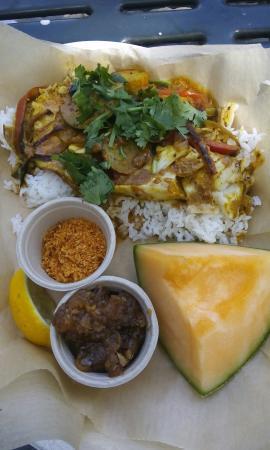 Grilled opah steak curry diva 39 s fish haddock calamari for Sea salt fish grill