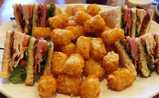 Ichabod's Restaurant: Old school club sandwich with tots.