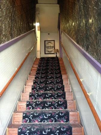Stairs leading to Sauerdough Lodging