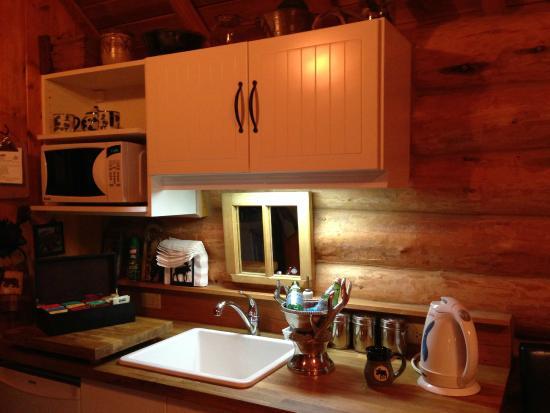 Banff Log Cabin B&B: kitchenette