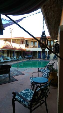 El Morocco Inn & Spa: Pool Deck - view from Breakfast Nook