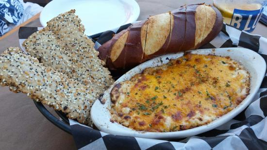 Best Crab Dip In Ocean City With A Pretzel Loaf And Everything
