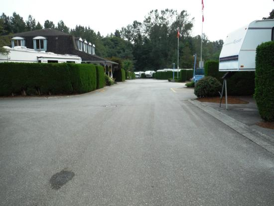 Burnaby Cariboo RV Park: High bushes, child safe paved streets