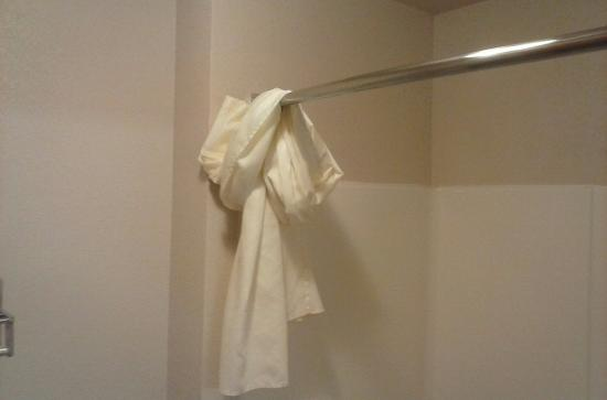 Best Western Plus Gateway Inn & Suites: Shower curtain rolled up from housekeeping not finishing the bathtub