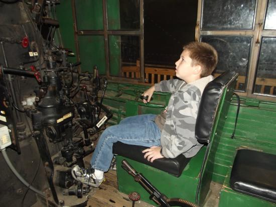 B&O Railroad Museum: My son in an engine!