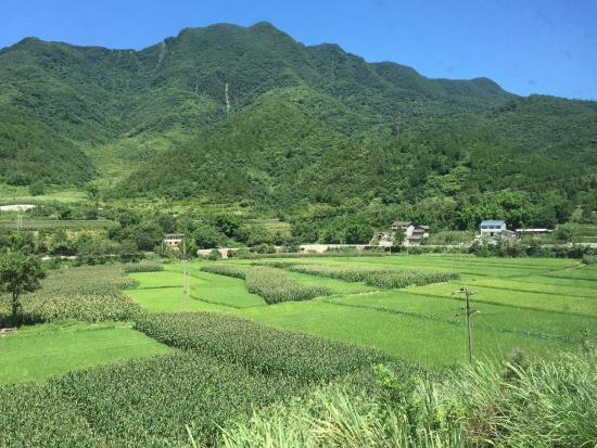 The beautiful landscapes in the hills further in Mianyang