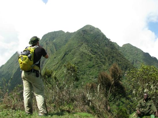 Mount Sabinyo: View from peak 1, 3 hours in (out of 3) only 3 km and 3,5 hours to the last peak (and the top 41