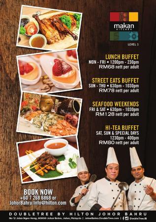 makan kitchen at doubletree by hilton johor bahru restaurant rh tripadvisor com hilton buffet price kl hilton buffet price kl