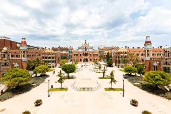 Sant Pau Recinte Modernista : Vista general del Recinto Modernista