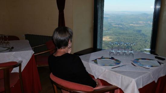 Hospedería Peña de Francía: La vue sur la vallée depuis la salle à manger