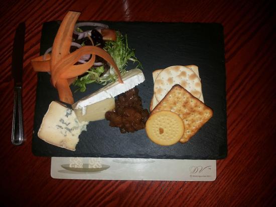 The Cock at Roade: Una selezione di formaggi
