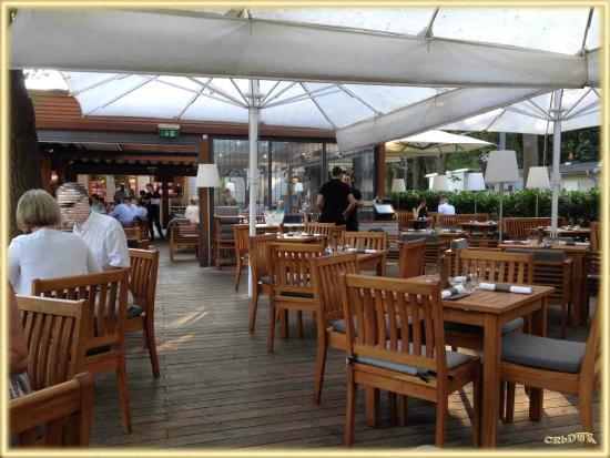 Klee am hanslteich  Terrasse mit Blick in das Lokal - Bild von Klee am Hanslteich ...