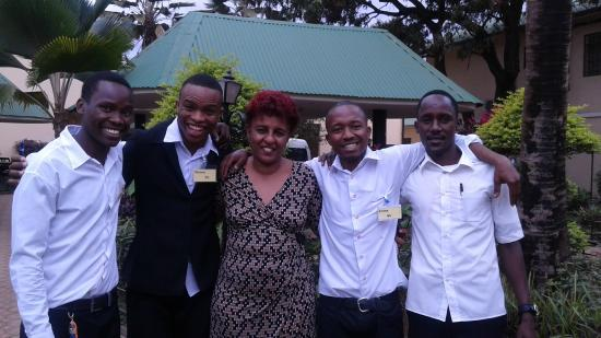 Springlands Hotel: Mama Zara and my favorite waiters