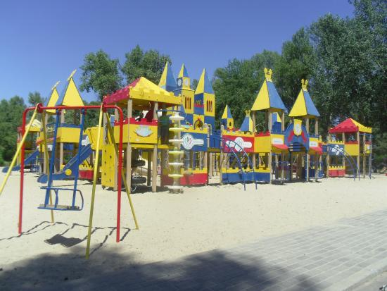 Enerhodar, أوكرانيا: детский городок в парке