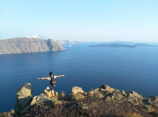 кругом море - Picture of Hiking Trail Fira - Oia ...