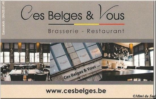 Ces Belges Vous Carte De Visite Donne Par Le Serveur