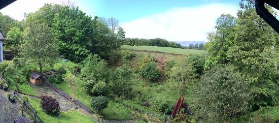 Kilfinan Hotel: View from bedroom window - Room 1