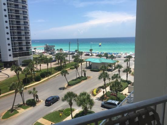 Wyndham Vacation Resorts Majestic Sun : This is what a partial view of the gulf looks like from a 2 bedroom deluxe!!! So beautiful!
