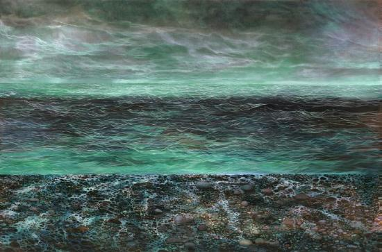 The Carol Cronin Gallery: 'Pebble Beach ' 40'' X 60'' Oil on Canvas