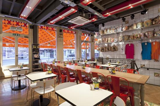 Lovely market bags on display and for sale picture of - Comptoir restaurant london ...