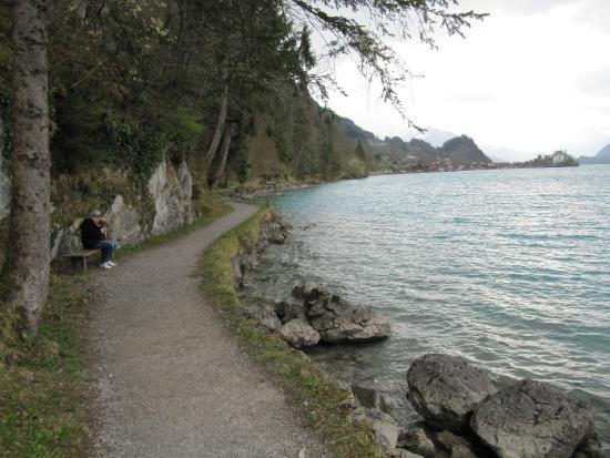 Hotel Bellevue Iseltwald: promenade