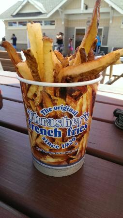 Thrasher's French Fries: Thrashed fries are delicious