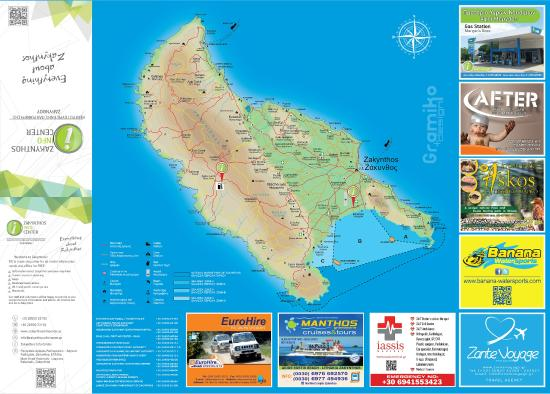 zakynthos info center FREE map Picture of Zakynthos Info Center