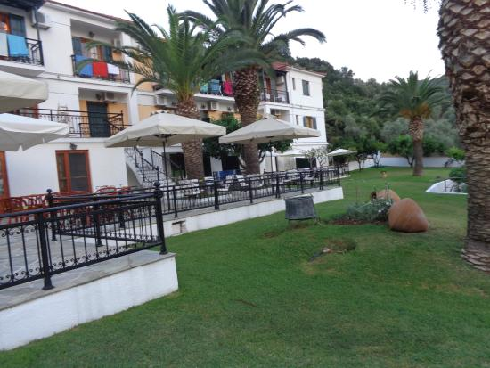 Hotel Panormos Beach Skopelos: giardino