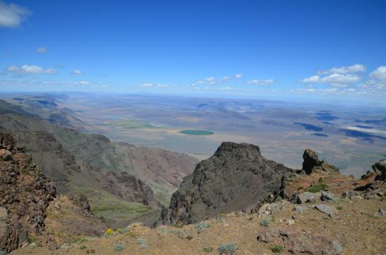 Princeton, OR: Alvord Desert from the summit area of Steens Mountain Loop