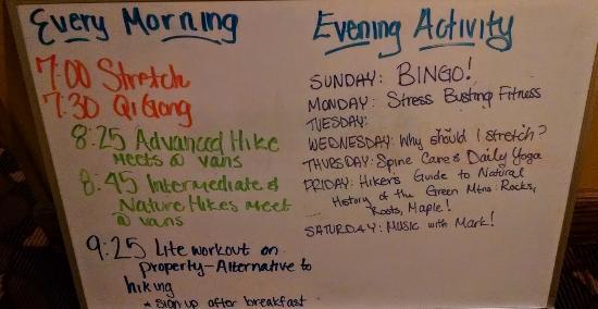 Mendon, Vermont: Activities