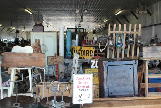 Shipshewana Auction & Flea Market: Weekly Misc. & Antique Auctions happen Wednesdays at 9 am in the Auction Building